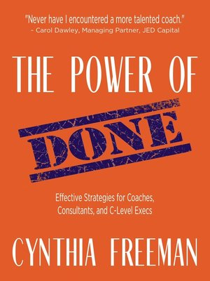 cover image of The Power of Done