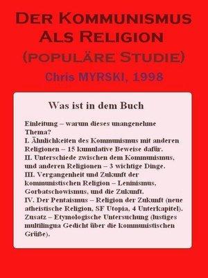 cover image of Der Kommunismus Als Religion (populäre Studie)