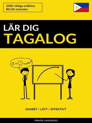 cover image of Lär dig Tagalog