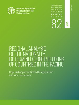 cover image of Regional Analysis of the Nationally Determined Contributions in the Pacific
