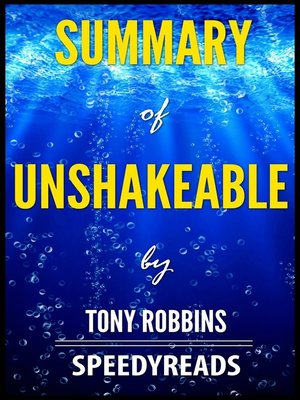 cover image of Summary of Unshakeable by Tony Robbins
