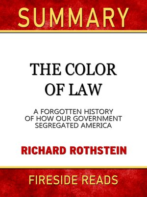 cover image of Summary of the Color of Law