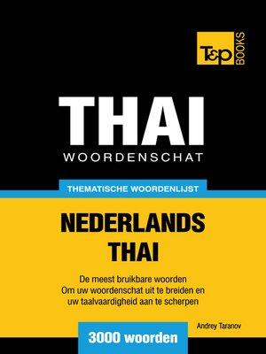cover image of Thematische Woordenschat Nederlands-Thai