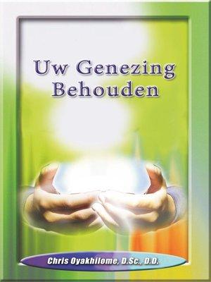 cover image of Uw Genezing Behouden