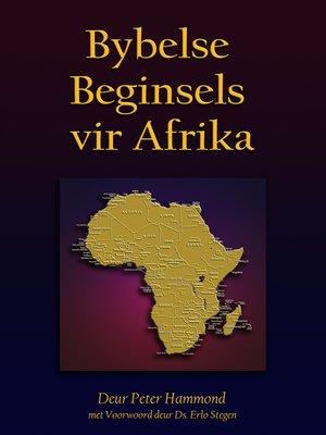 cover image of Bybelse Beginsels vir Afrika