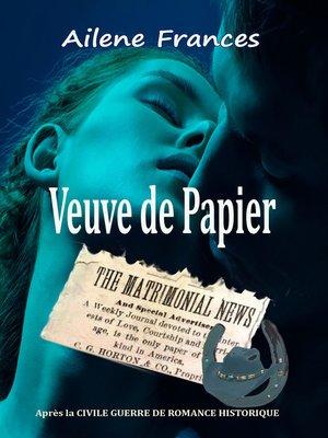 cover image of Veuve de Papier