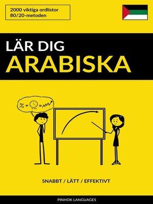 cover image of Lär dig Arabiska