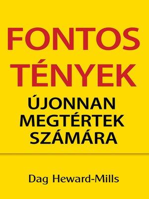 cover image of Fontos Tények Újonnan Megtértek Számára