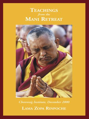 cover image of Teaching from the Mani Retreat