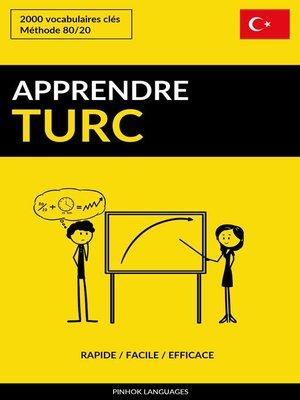 cover image of Apprendre le turc