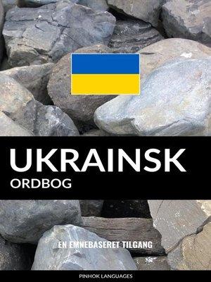 cover image of Ukrainsk ordbog