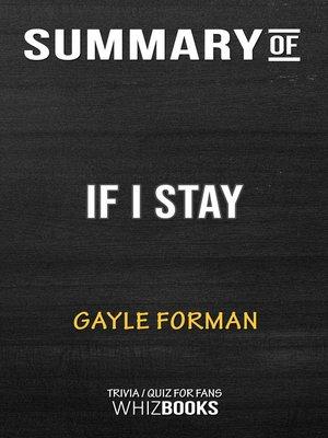 cover image of Summary of If I Stay