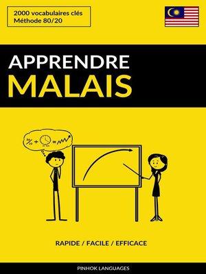 cover image of Apprendre le malais