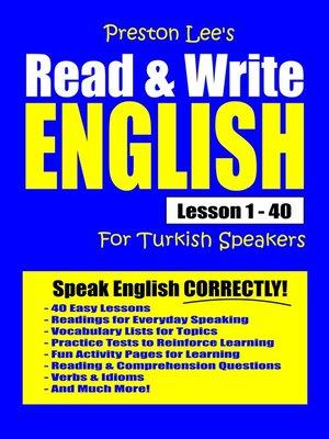 cover image of Preston Lee's Read & Write English Lesson 1