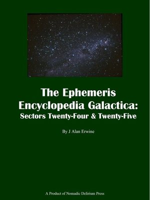 cover image of The Ephemeris Encyclopedia Galactica