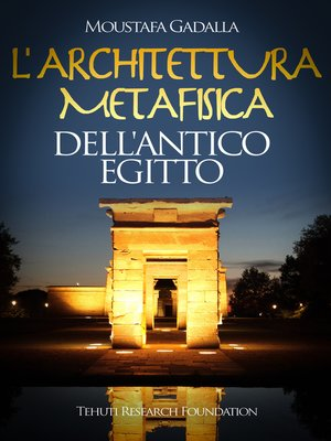 cover image of L'architettura metafisica dell'Antico Egitto