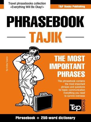 cover image of Phrasebook Tajik