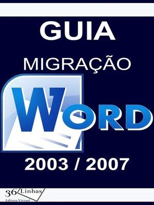 cover image of Guia Migração Word 2003/2007