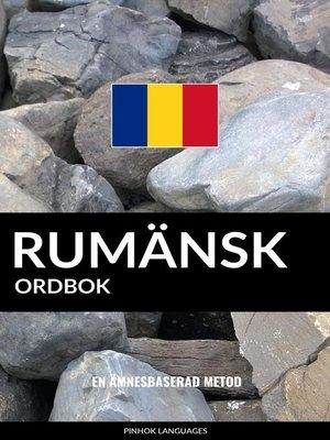 cover image of Rumänsk ordbok