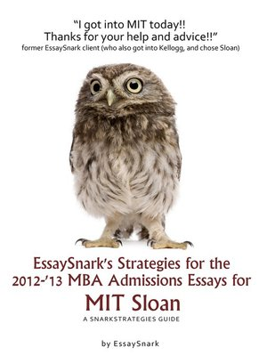 EssaySnark S Strategies For The 2012 13 MBA Admissions Essays For