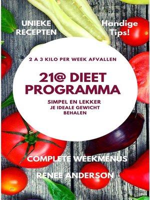 cover image of 21@ Dieet Programma