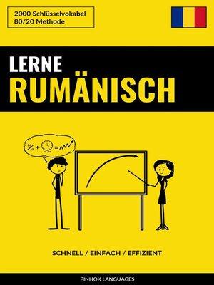 cover image of Lerne Rumänisch