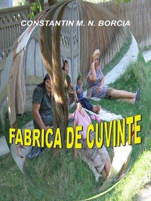 cover image of Fabrica de cuvinte