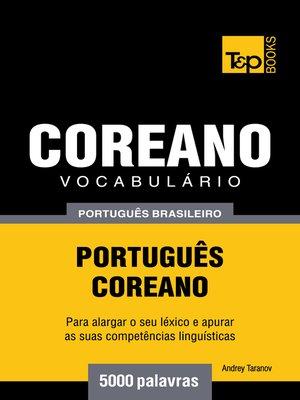 cover image of Vocabulário Português Brasileiro-Coreano