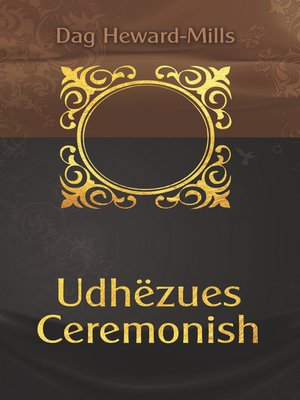 cover image of Udhëzues ceremonish