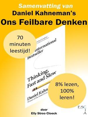 cover image of Samenvatting van Daniel Kahneman's Ons Feilbare Denken