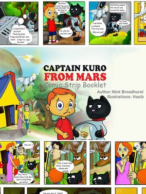 cover image of Captain Kuro From Mars Comic Strip Booklet