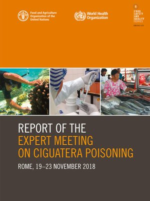 cover image of Report of the Expert Meeting on Ciguatera Poisoning