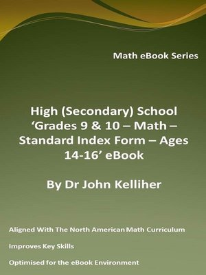 cover image of High (Secondary) School 'Grades 9 & 10 – Math – Standard Index Form – Ages 14-16' eBook