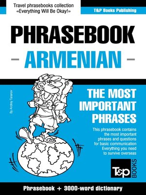 cover image of English-Armenian phrasebook and 3000-word topical vocabulary