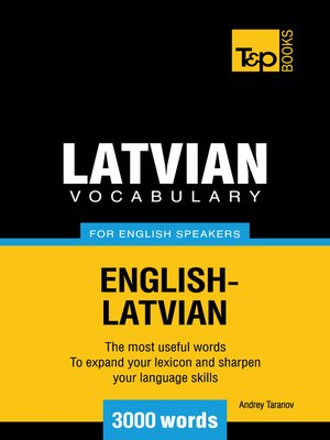 cover image of Latvian vocabulary for English speakers