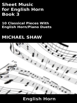 cover image of Sheet Music for English Horn