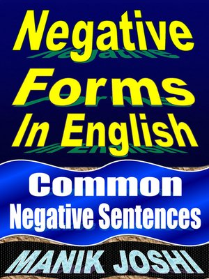 cover image of Negative Forms in English