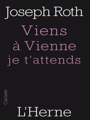 cover image of Viens à Vienne je t'attends