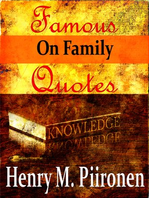 cover image of Famous Quotes on Family