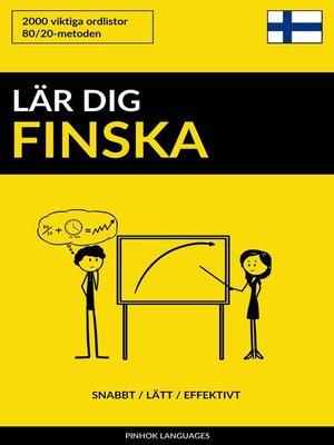 cover image of Lär dig Finska