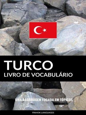 cover image of Livro de Vocabulário Turco