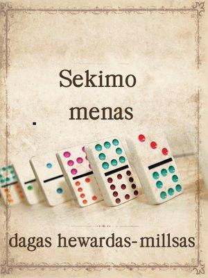 cover image of Sekimo menas