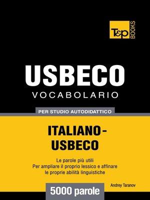 cover image of Vocabolario Italiano-Usbeco per studio autodidattico