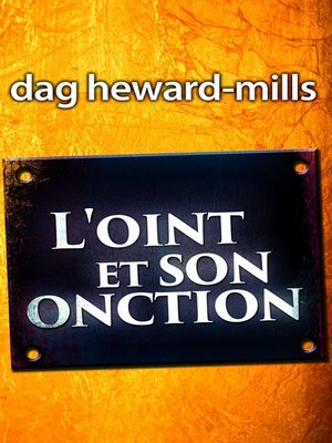 cover image of L'oint et son onction