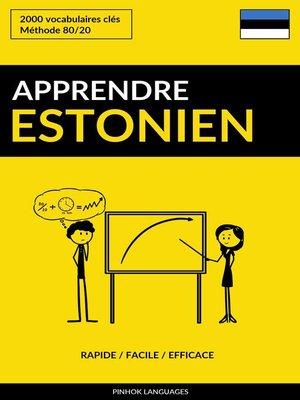 cover image of Apprendre l'estonien