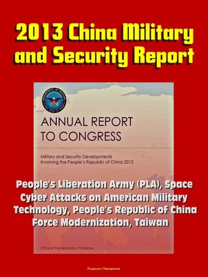 cover image of 2013 China Military and Security Report