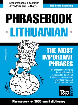 cover image of English-Lithuanian Phrasebook and 3000-Word Topical Vocabulary