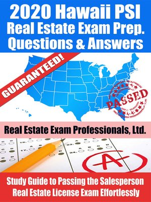 cover image of 2020 Hawaii PSI Real Estate Exam Prep Questions & Answers