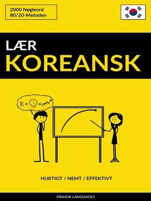 cover image of Lær Koreansk