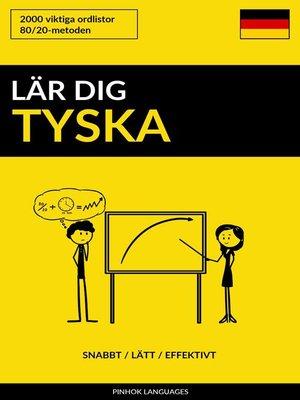 cover image of Lär dig Tyska